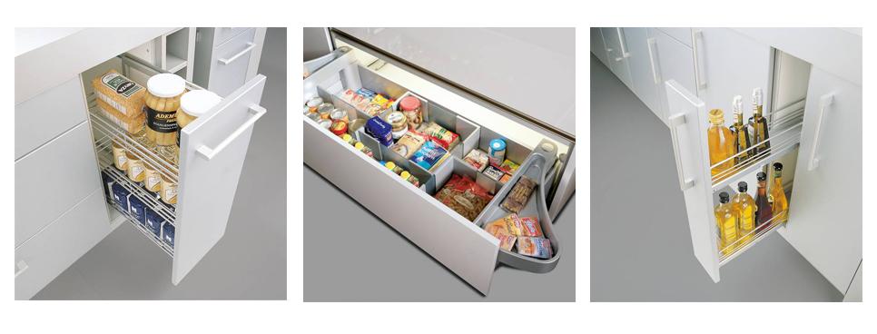 organizační zásuvkový systém do kuchyně