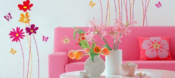 Nechte rozkvést  stěny nebo nábytek