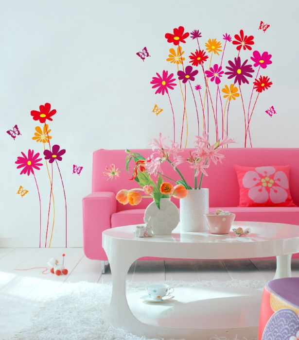 samolepka kvetiny