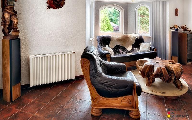 Jednoduchý elegantní vzhled umožňuje topné panely zakomponovat do jakéhokoli interiéru