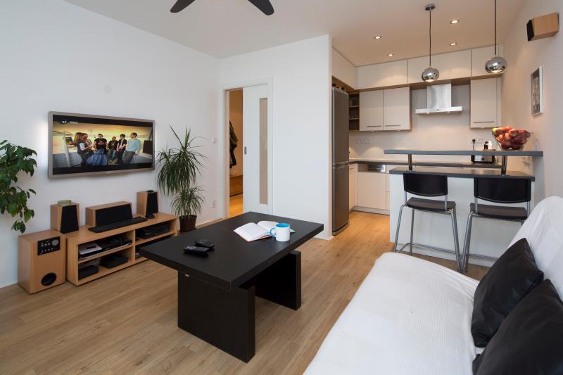 Zrekonstruovaný obývací pokoj