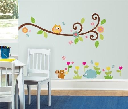 Jarní samolepka na zeď s dětskými motivy